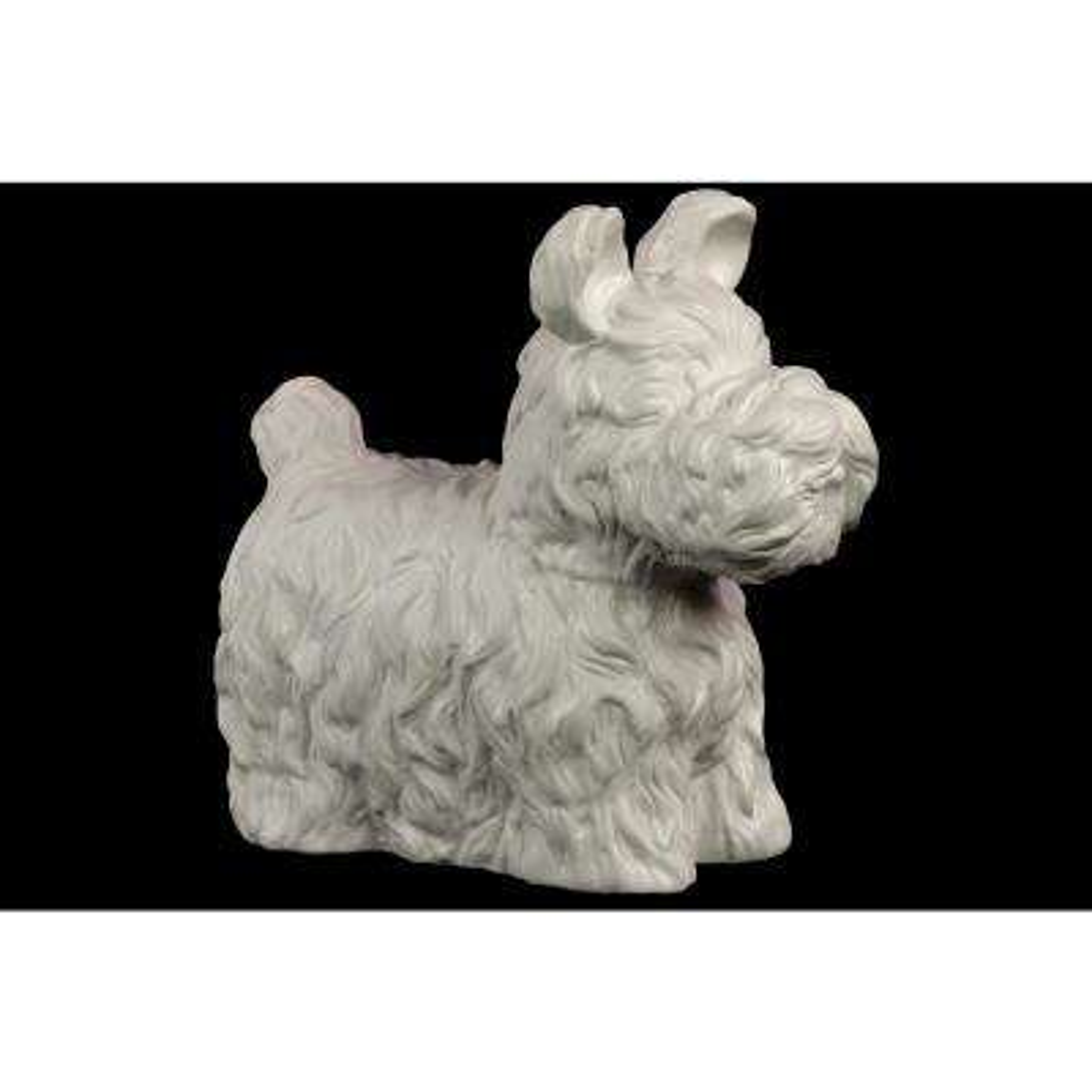 10.50 in. H Figurine Decorative Sculpture in White Matte