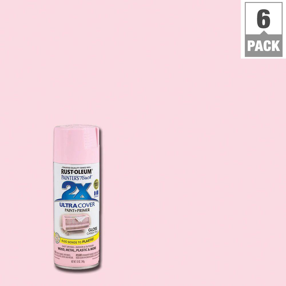 12 oz. Candy Pink Gloss General Purpose Spray Paint (6-Pack)