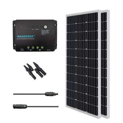 200-Watt 12-Volt Monocrystalline Solar Bundle Off-Grid Kit with 30 Amp Charge Controller