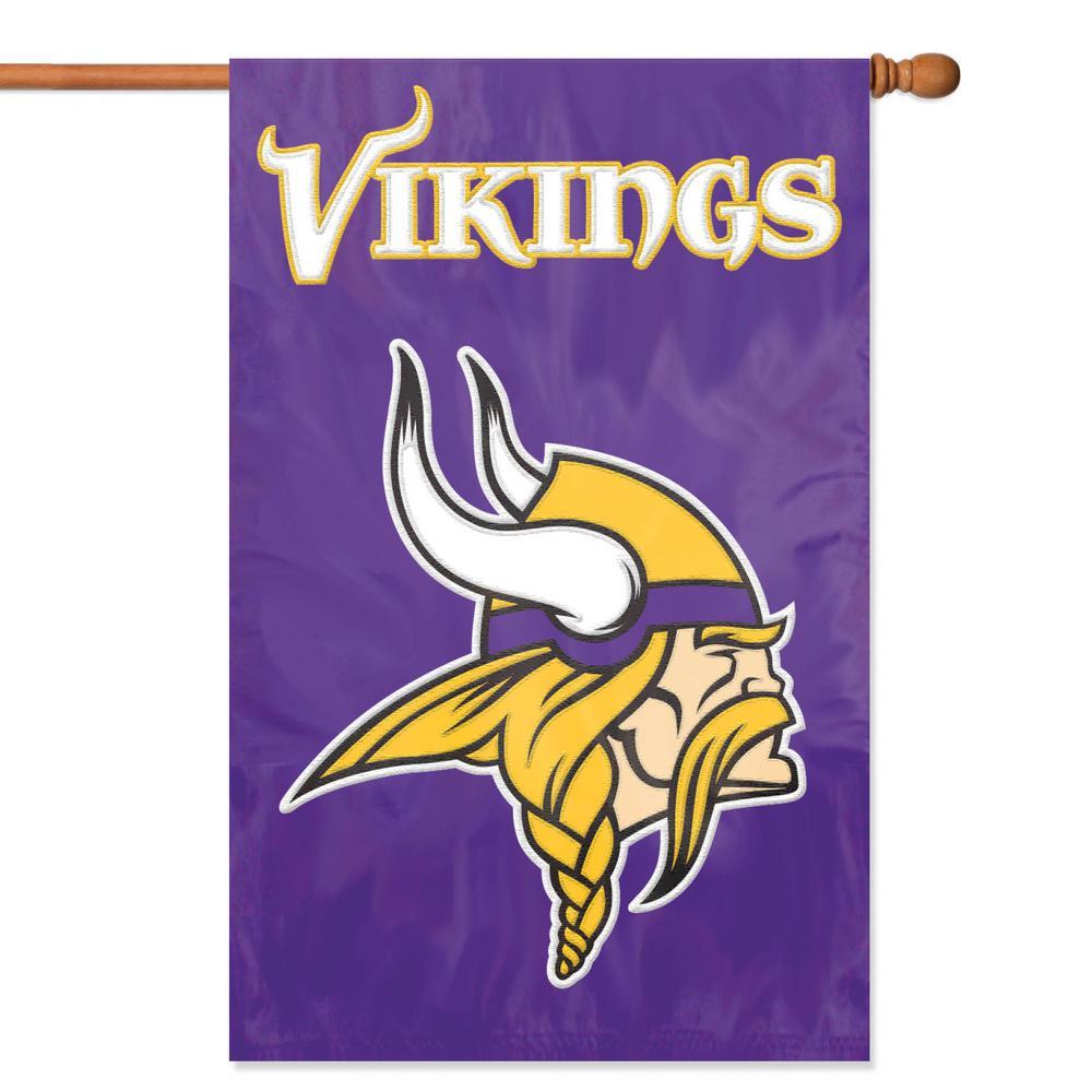 Minnesota Vikings Applique Banner Flag