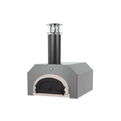 CBO-500 32-1/2 in. x 34-1/4 in. Counter Top Wood Burning Pizza Oven in Silver