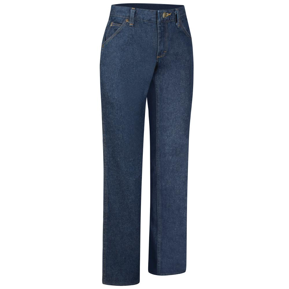 e8e4dcb1 Red Kap Women's Size 20 in. x 30 in. Prewashed Denim Straight Fit ...