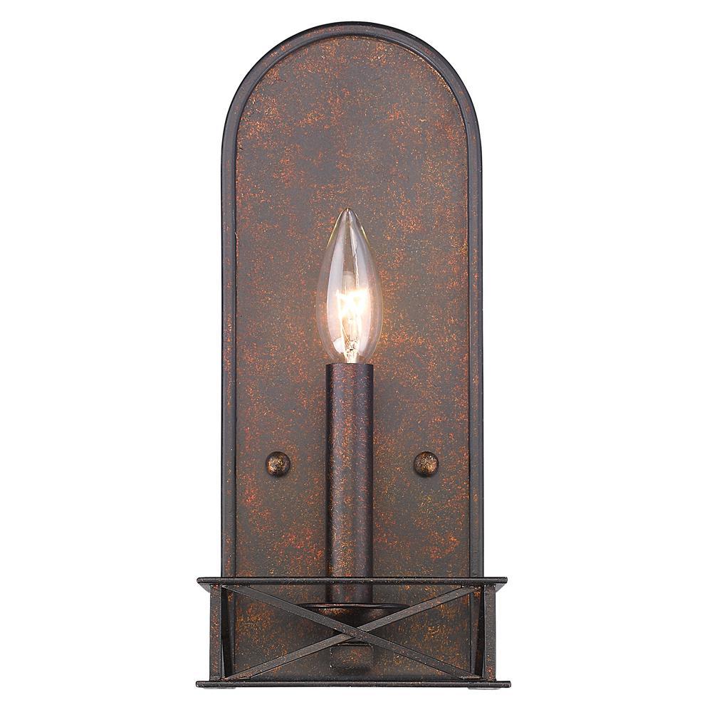 Gateway 1-Light Fired Bronze Sconce