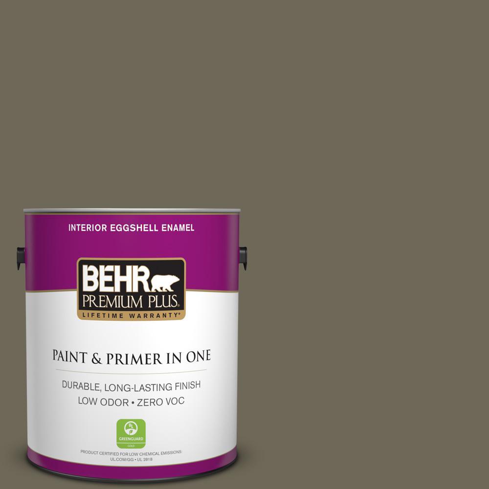 BEHR Premium Plus 1-gal. #770D-6 Sandwashed Driftwood Zero VOC Eggshell Enamel Interior Paint