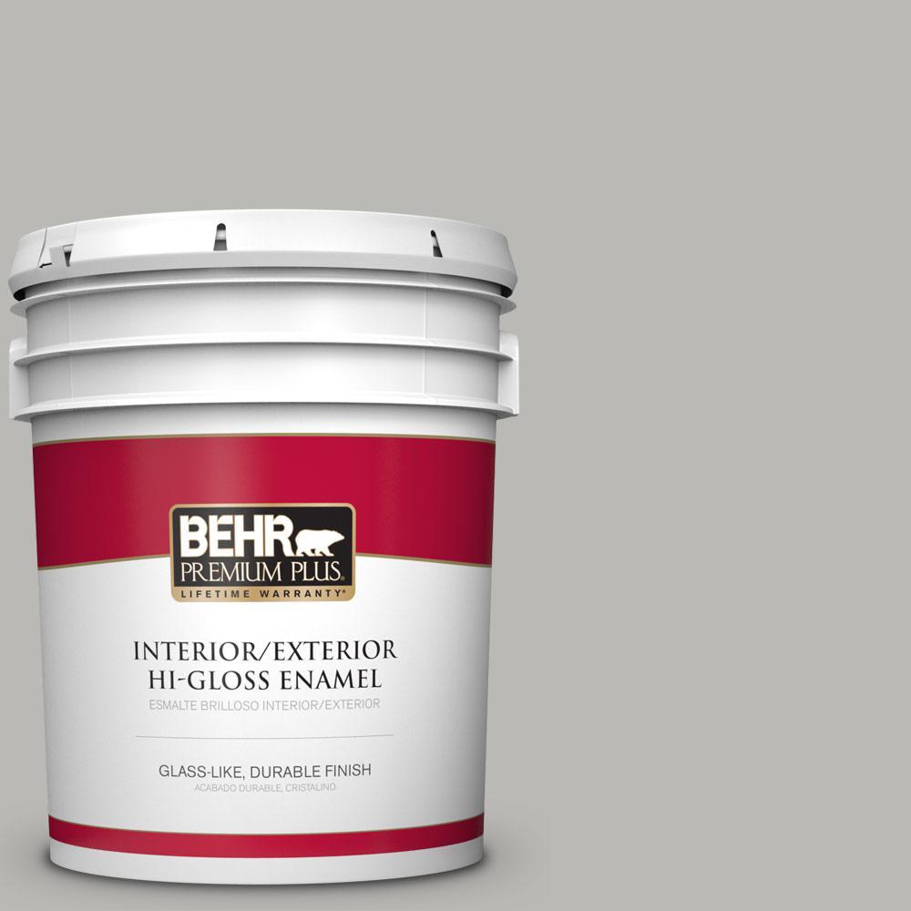 5 gal. #PPU18-11 Classic Silver Hi-Gloss Enamel Interior/Exterior Paint