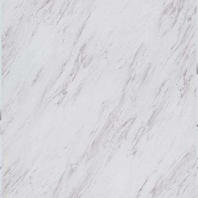 Carrara Marble 12 in. x 24 in. Peel and Stick Vinyl Tile