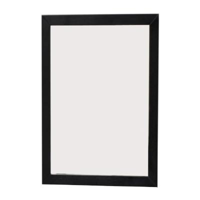 Lovington 23.6 in. x 31.5 in. Single Framed Wall Mirror in Black Oak