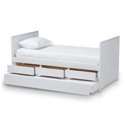 Linna White Twin Daybed with Trundle