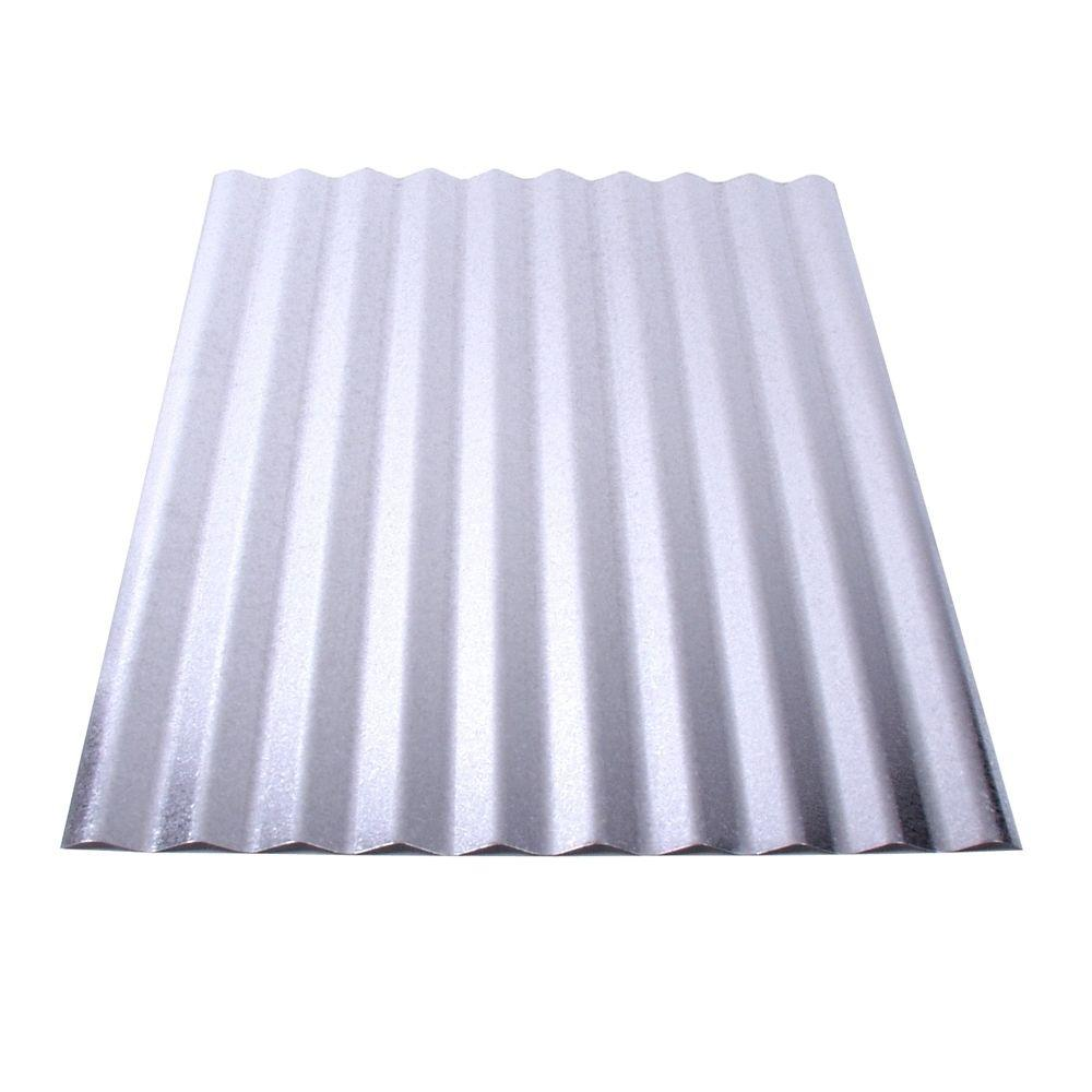 6 ft. Corrugated Galvanized Steel Roof Panel