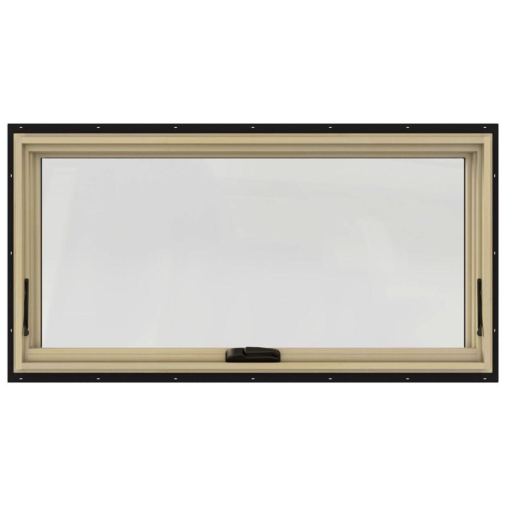48 in. x 24 in. W-2500 Series Black Painted Clad Wood