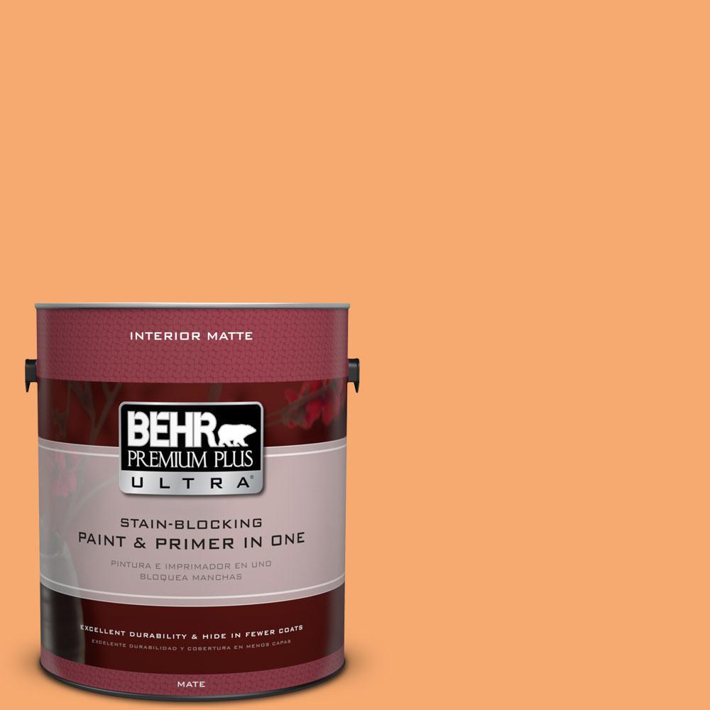BEHR Premium Plus Ultra 1 gal. #P230-5 Florida Sunrise Matte Interior Paint
