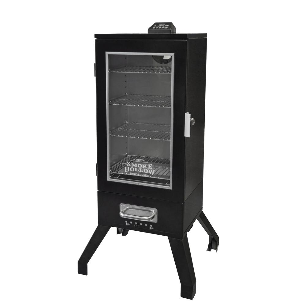 Digital Electric Smoker With Window In Black