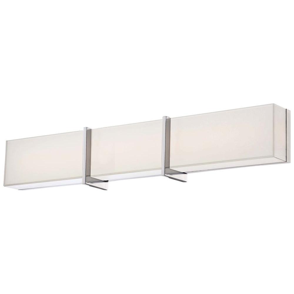 High Rise LED Bath Chrome Vanity Light