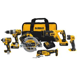 Dewalt 20-Volt Max Lithium Ion Cordless Combo Kit (6-Tool) by DEWALT