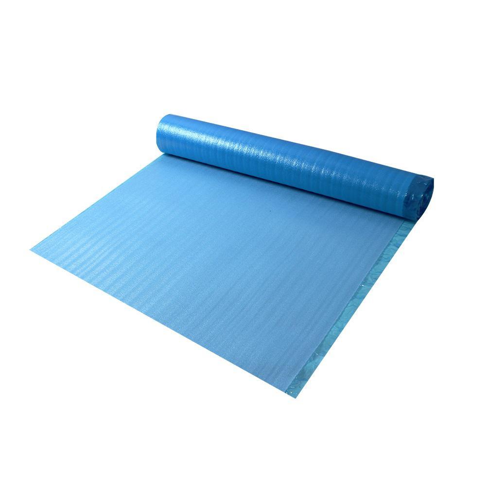 Dekorman 2mm Laminate Flooring Blue Foam Underlayment 2mm Thick X 3 3 Ft W X 30 5 Ft L 100 Sq Ft Roll 2bf1 The Home Depot