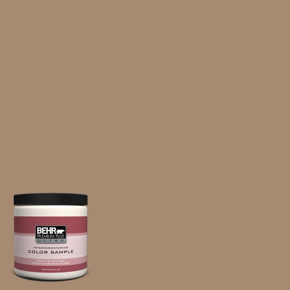 8 oz. #N260-5 Distant Land Flat Interior/Exterior Paint and Primer in