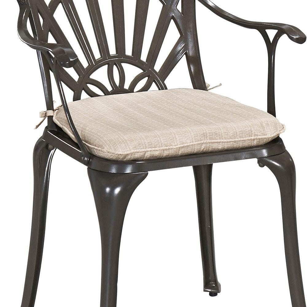 Home Styles Gray Outdoor Dining Chair Cushion-5561-CUS