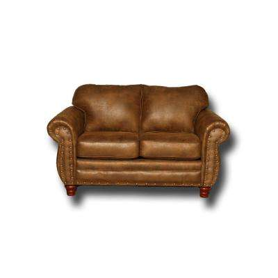 Sedona 67 in. brown Microfiber 2-Seater Loveseat with Removable Cushions