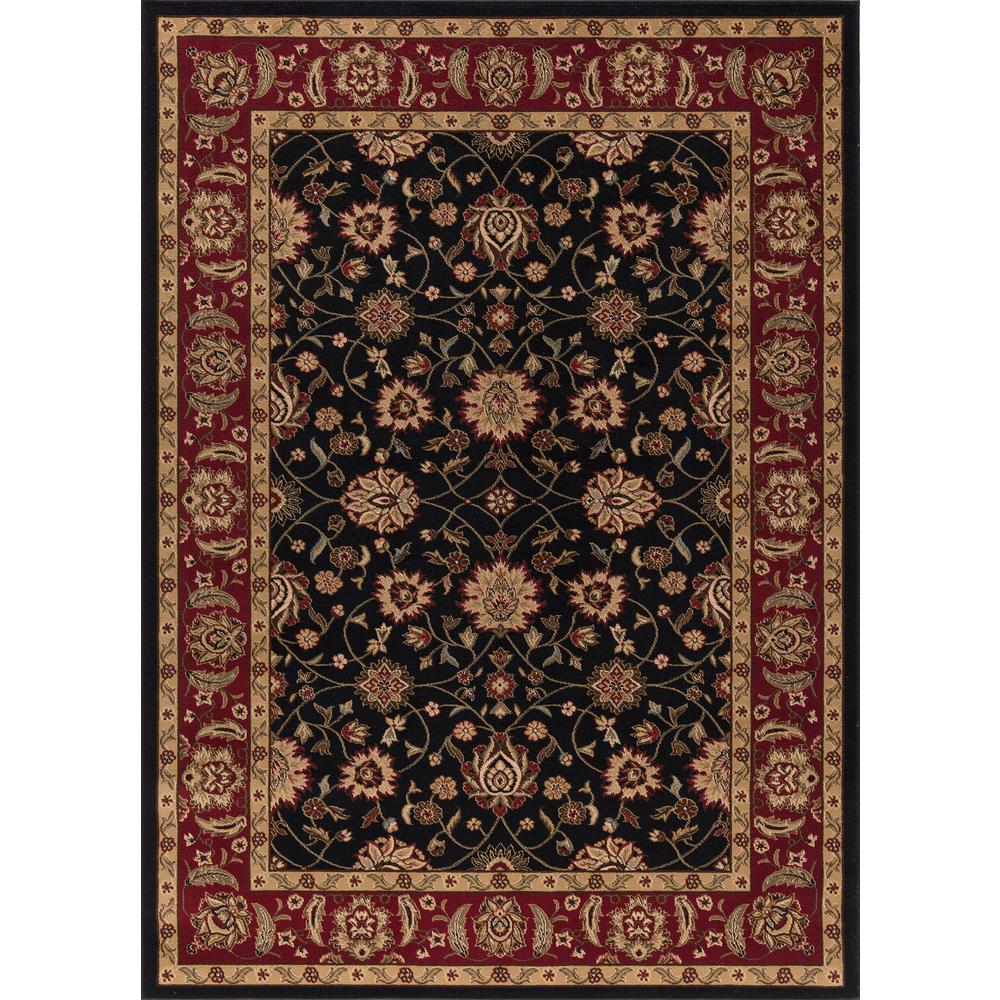 Concord Global Trading Ankara Zeigler Black 6 ft. 7 in. x 9 ft. 6 in. Area Rug
