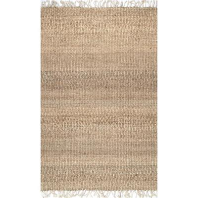 Benavides Tassel Jute Natural 8 ft. x 10 ft. Area Rug