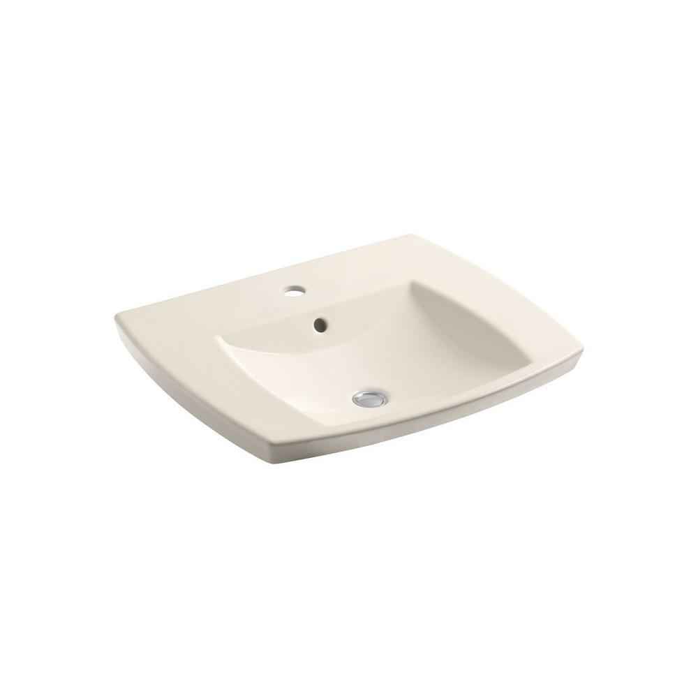KOHLER Kelston Self-Rimming Bathroom Sink in Innocent Blush-DISCONTINUED