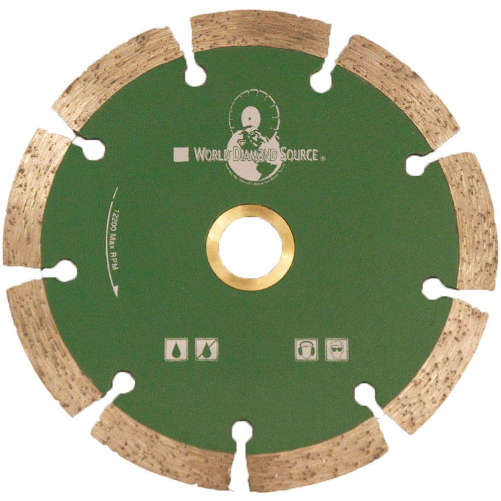 World Diamond Source SX Series 4 in. Premium Dry Segmented Diamond Blade