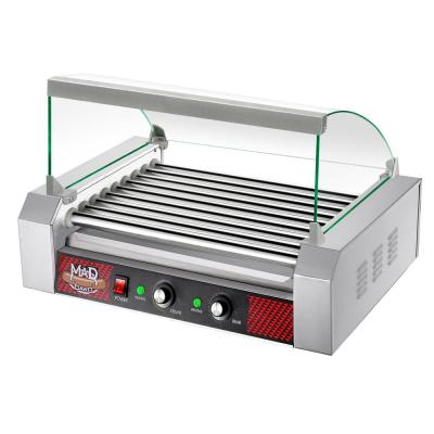 Commercial 24-Hot Dog 290 sq. in. Stainless Steel Indoor Grill