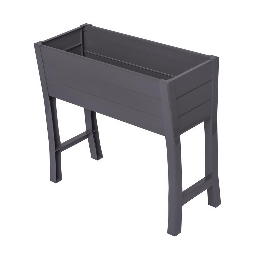 Gray Vinyl Elevated Garden Box