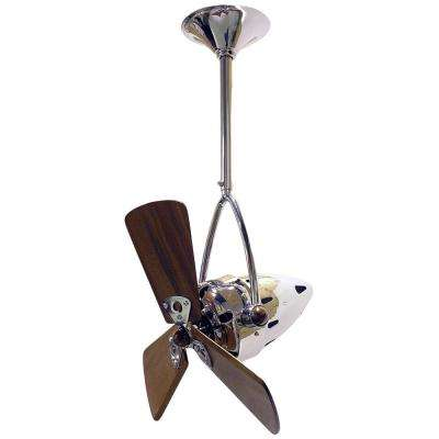 Jarold Direcional 13 in. Indoor/Outdoor Polished Chrome Ceiling Fan with Wall Control