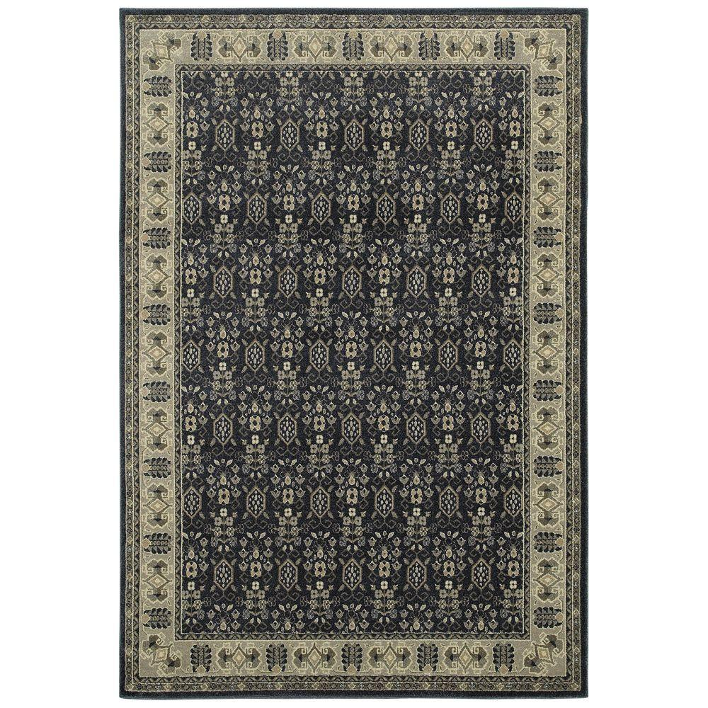 Home Decorators Collection Gianna Indigo 5 Ft. 3 In. X 7 Ft. 6 In. Area  Rug 442713   The Home Depot