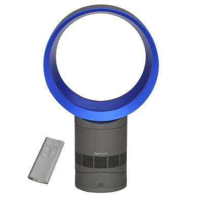 AM06 10 in. Oscillating Personal Fan with Remote in Blue