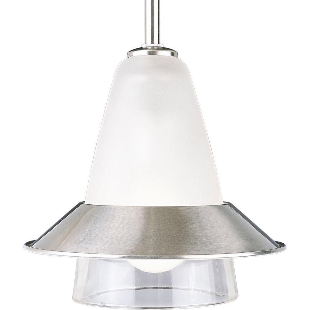 Progress Lighting 1-Light Brushed Nickel Mini Pendant