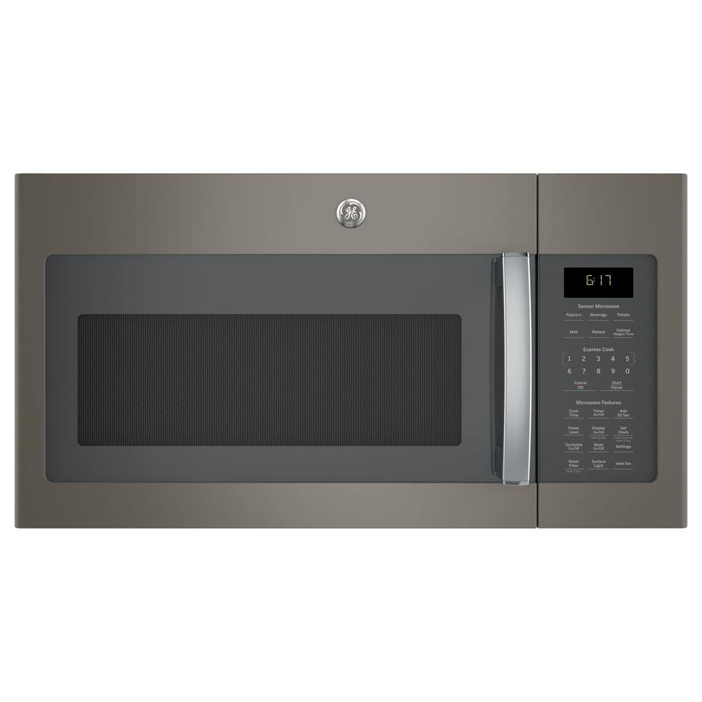 Ge 1 7 Cu Ft Over The Range Microwave With Sensor Cooking In Stainless Steel Jvm6175skss Home Depot