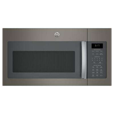 1.7 cu. ft. Over the Range Sensor Microwave Oven in Slate
