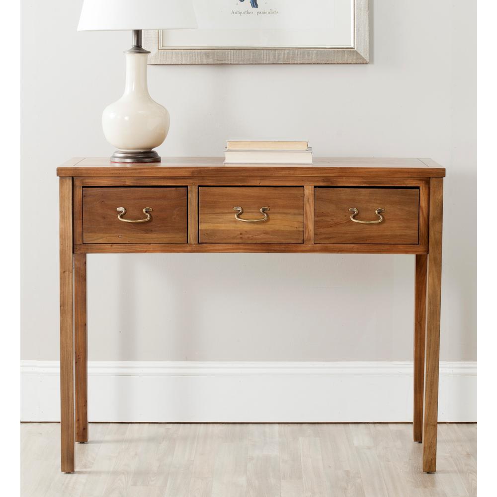 Pleasant Safavieh Cindy Oak Storage Console Table Amh6568G The Home Ibusinesslaw Wood Chair Design Ideas Ibusinesslaworg