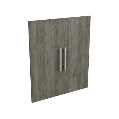 Style+ 25 in. W Modern Coastal Teak Closet Door Kit
