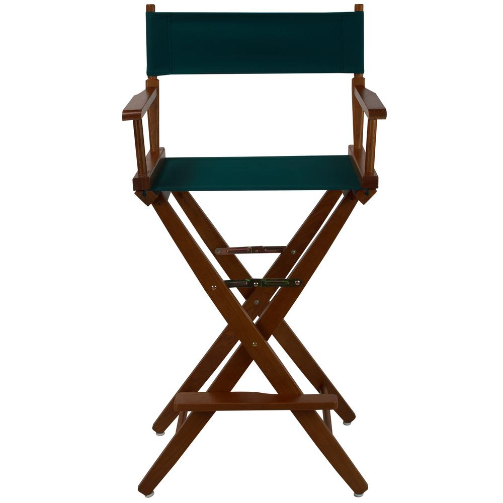 Amazing American Trails 30 In Extra Wide Mission Oak Wood Frame Hunter Green Canvas Seat Folding Directors Chair Squirreltailoven Fun Painted Chair Ideas Images Squirreltailovenorg