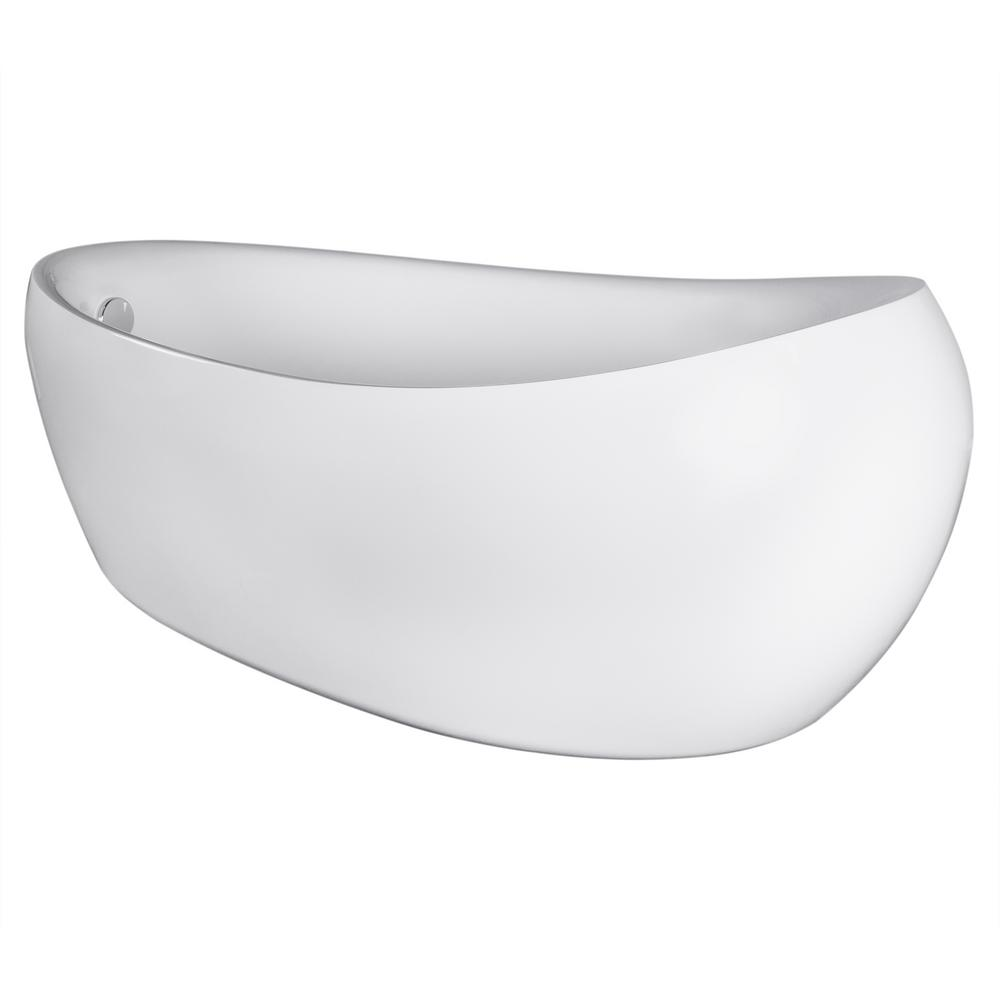 akdy 5 7 ft fiberglass flatbottom non whirlpool bathtub in white acrylic bt0067 the home depot. Black Bedroom Furniture Sets. Home Design Ideas
