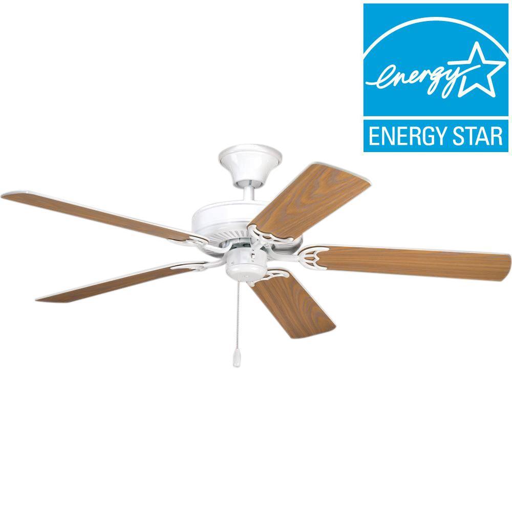 Progress Lighting AirPro Builder 52 in. White Ceiling Fan
