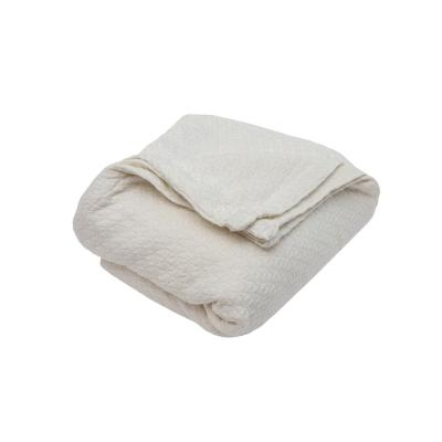 Carrie Cotton Full/Queen Throw Blanket in Ivory