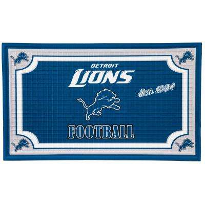Detroit Lions 18 in. x 30 in. Embossed Welcome Mat