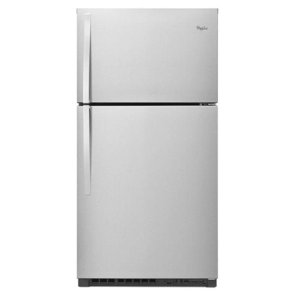 Whirlpool 21.3 cu. ft. Top Freezer Refrigerator in Monochromatic Stainless Steel