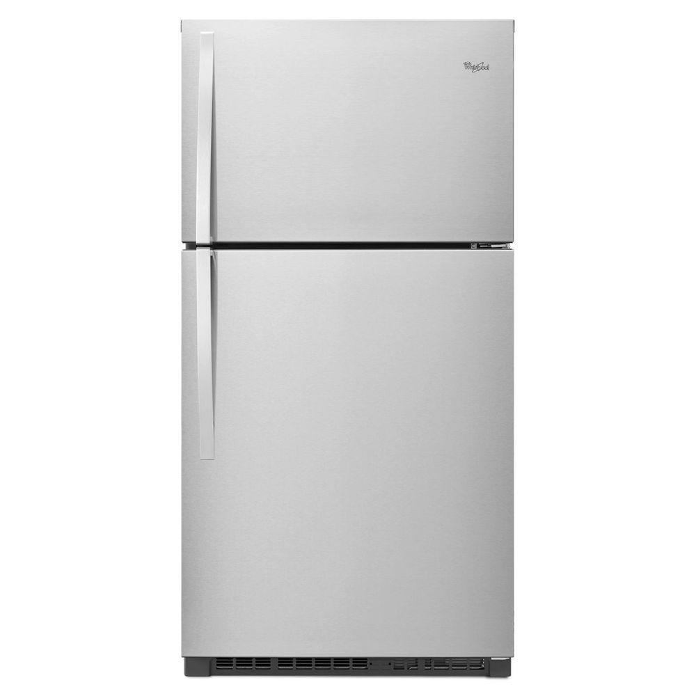 Whirlpool 33 In W 21 3 Cu Ft Top Freezer Refrigerator