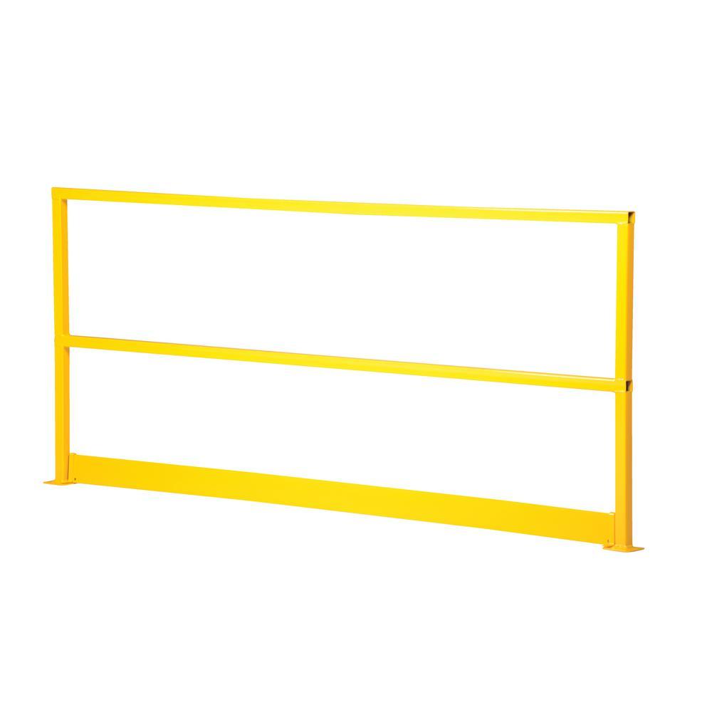 Vestil 10 ft. Square Steel Safety Handrail with Toeboard