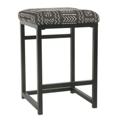 Open Back 24 in. Onyx Bar Stool