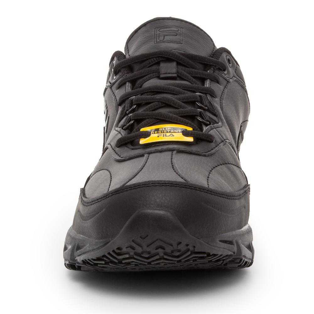 Fila Men's Memory Workshift Slip Resistant Athletic Shoes Soft Toe BLACK Size 8.5(W)