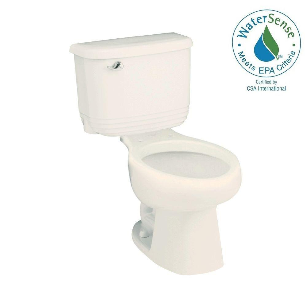 STERLING Riverton 2-piece 1.28 GPF Single Flush Elongated Toilet in Biscuit
