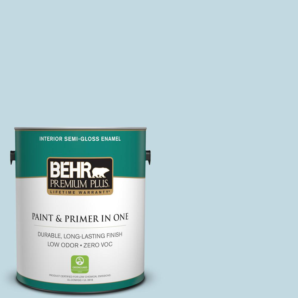 1-gal. #S480-1 Rain Dance Semi-Gloss Enamel Interior Paint