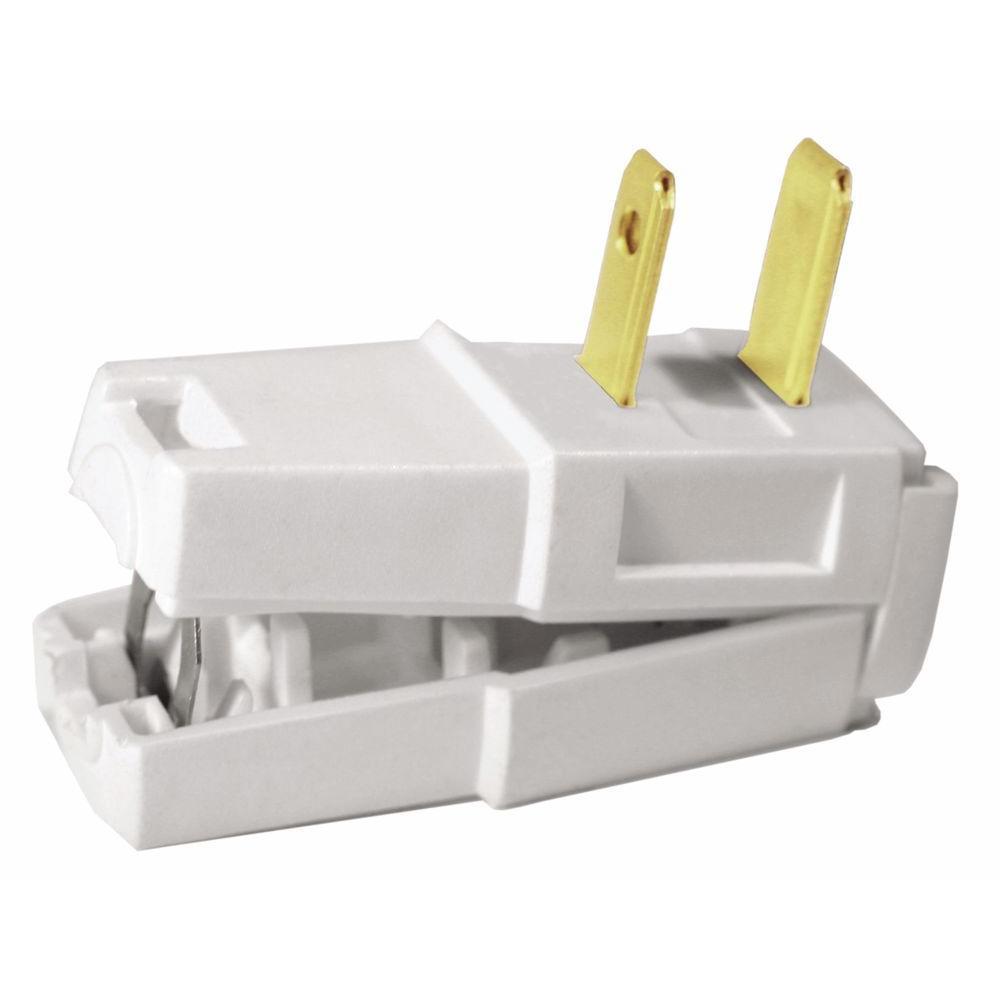 Leviton 15 Amp 125-Volt E-Z Wire Plug, White-R52-00321-00W - The ...
