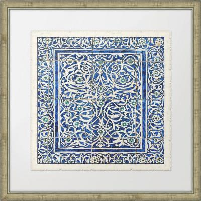 """28 in. x 28 in. """"Colorful Tiles II"""" Framed Giclee Print Wall Art"""